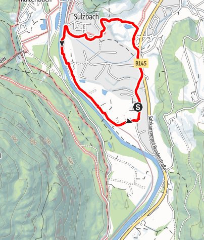 Karte / Rundweg Artweger - Sulzbachfelder - Johann-Strauß-Str. - Auweg