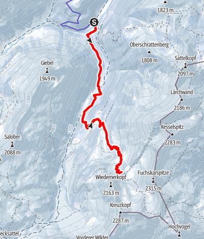 Karte / zur Prinz-Luitpold-Hütte