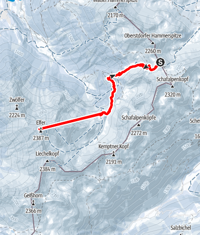 Karte / Winterelfer von der Fiderepasshütte