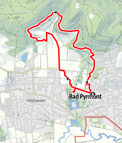 Karte / Bad Pyrmont, Der Hyllige Born – Kurpark Bad Pyrmont Runde von Oesdorf