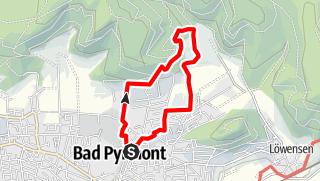 Karte / Bad Pyrmont, Der Hyllige Born – Dunsthöhle Bad Pyrmont Runde von Brunnenplatz