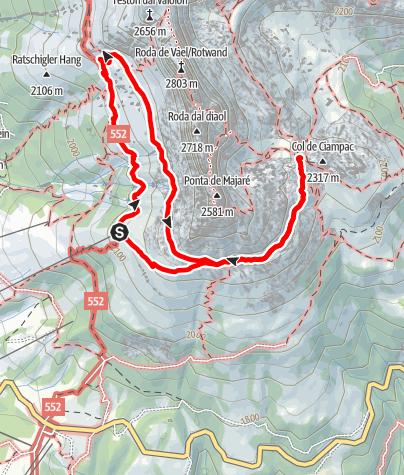 Map / ICSZ2020 - Mountain Hiking #1: Rosengarten (easy)