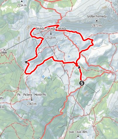 Map / ICSZ2020 - Mountain Hiking #2: Secëda (medium)
