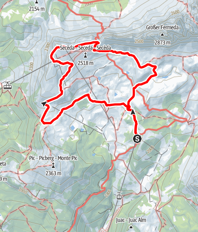 Map / ICSZ2020 - Mountain Hiking #2: Secëda (medium)