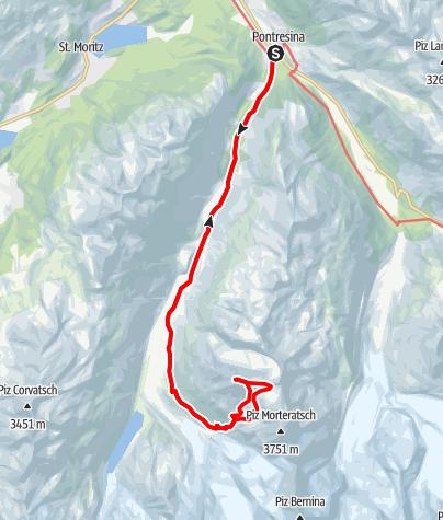 Karte / Piz Tschierva (GR)