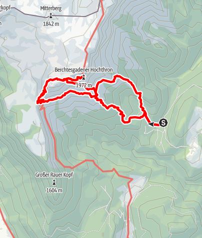 Map / Berchtesgadener Hochthron über Mittagsloch