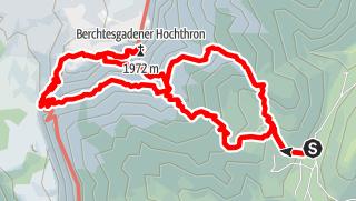 Karte / Berchtesgadener Hochthron über Mittagsloch