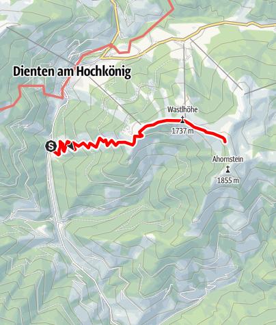 Karte / Sebastiani Tour mit Schneeschuh oder Tourenski zur Bürglalm in Dienten