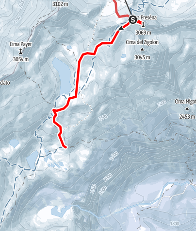Karte / Adamello 1.Tag P.d.Tonale-Rif. Mandron