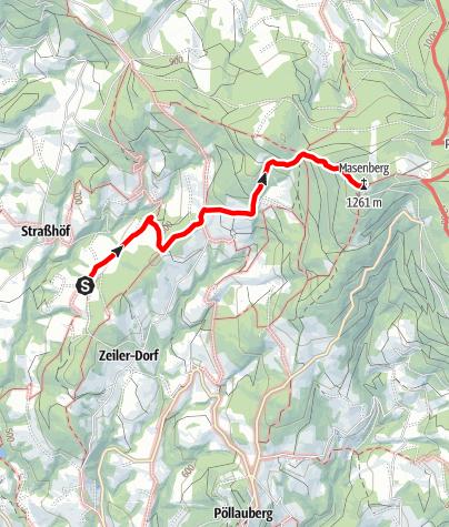 Karte / Von Ferienhaus Mooshoef  zum Masenberg