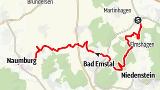 Karte / Von Breitenberg nach Naumburg
