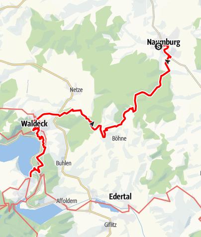 Karte / Von Naumburg bis an den Edersee