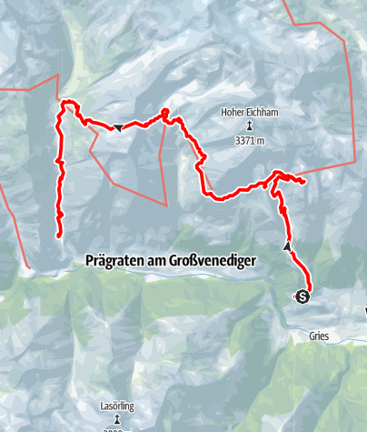Karte / Huttentocht 2020 Virgental: korte variant