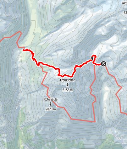 Karte / 2020 dag 5a Voorstel huttentocht Virgental