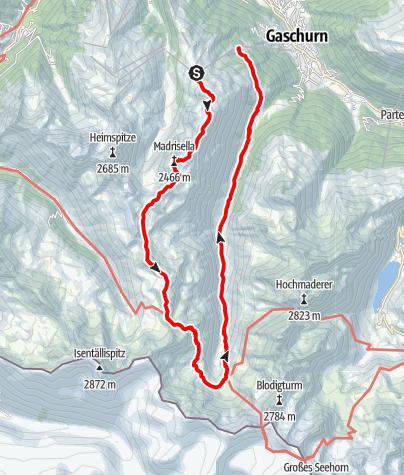 Karte / Tübinger Hütte - Silvretta