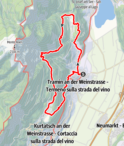 Karte / Tramin-Panoramaweg-Altenburg-Graun-Lochweg