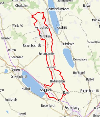Karte / Sempach-Homberg-Hochwacht-Sempach (Rundtour)