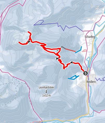 Map / schneeschuhwandern hirschberg