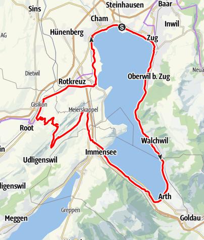Karte / Zug-Arth-Küssnacht-Michaelskreuz-Rotkreuz (Rundtour)