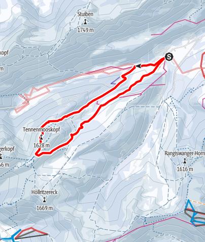 Karte / Tennenmooskopf