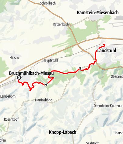 Karte / Wanderung an der Sickinger Stufe