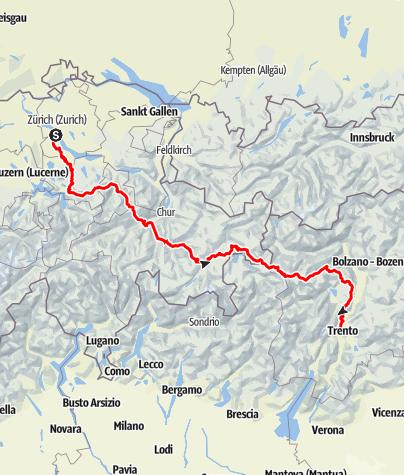 Map / transalp summer 2020