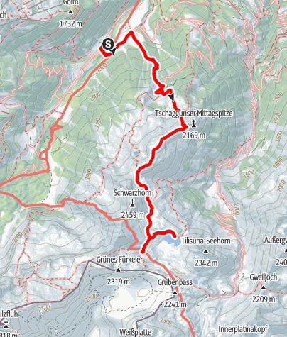 Karte / Montafon 2 - Tilisuna