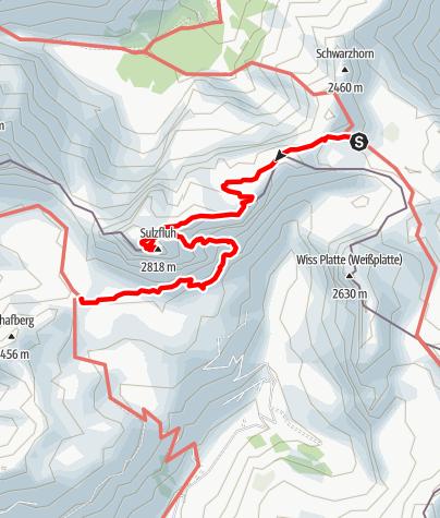 Karte / Montafon 3 - Sulzfluh -Carschina