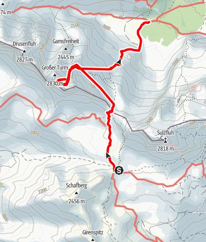 Karte / Montafon 4 - Carschina - Lindauer