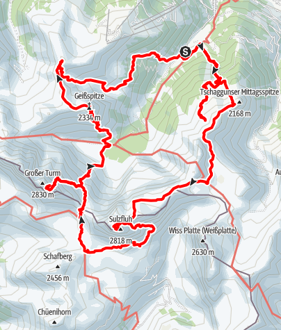 Karte / Montafon - alternative