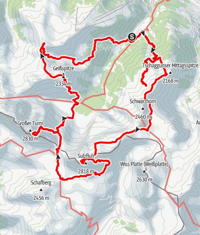 Karte / Achtsam durch Rätikon - Tilisuna 2020