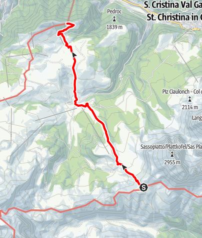 Karte / Grödnertal-Tour 2020, Tag 5