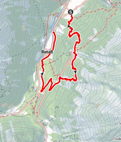 Karte / Falbesoner Nockalm und Bänkenalm