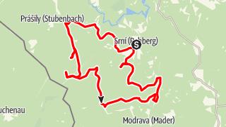 Karte / Böhmerwald Radtour Tag 3