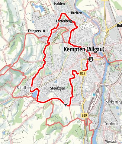 Mappa / Kempten Rundgang 30. März 2020