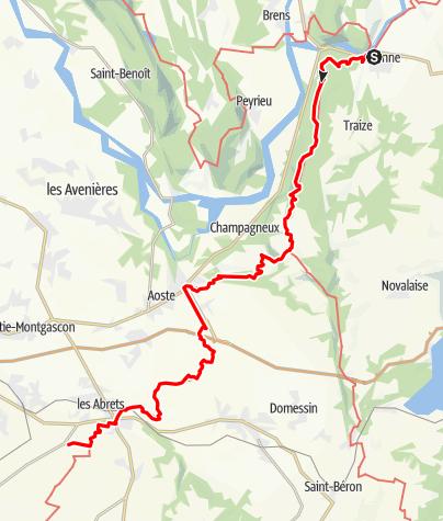 Karte / GR65 Stage 03: Yenne - Saint-Ondras