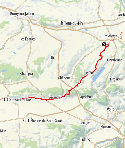 Karte / GR65 Stage 04: Saint-Ondras - La-Cote-St-Andre