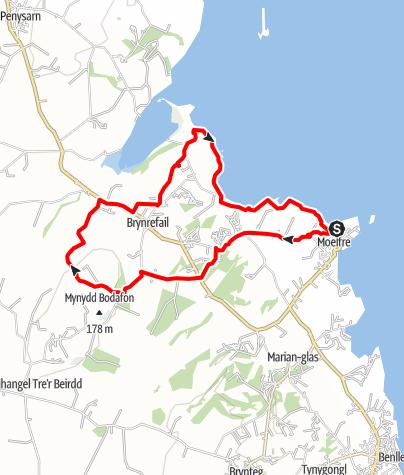 Karte / Moelfre to Pilot Boat circular