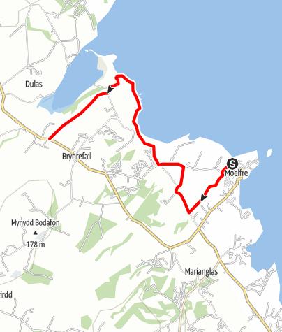 Karte / Moelfre to Dulas via Lligwy