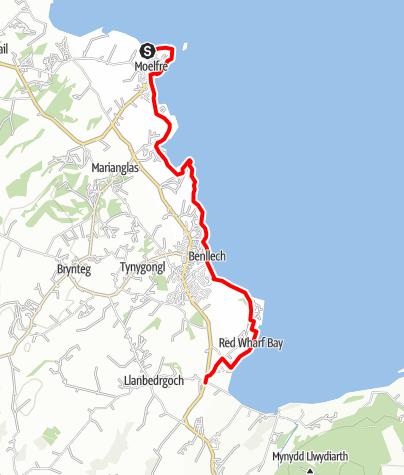 Karte / Moelfre to Red Wharf Bay