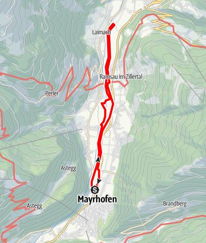 Karte / Mayrhofen - Laimach (Rundwanderweg)