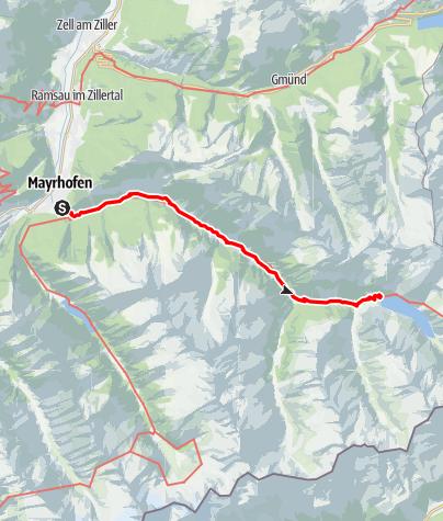 Karte / Mayrhofen - Zillergrund - Adlerblick