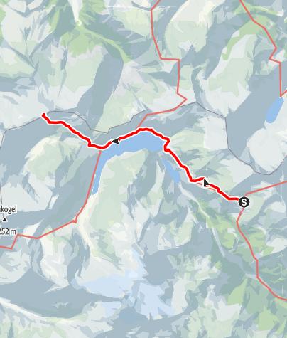 Karte / Tauernhöhenweg - Etappe 7: Kattowitzer Hütte - Ali-Lanti-Biwak