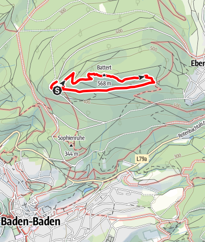 Karte / NaTour am Battert