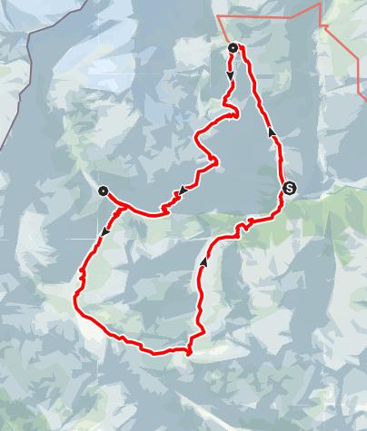 Karte / Virgentaler Wochenendtour hochalpin und eisfrei im Nationalpark Hohe Tauern