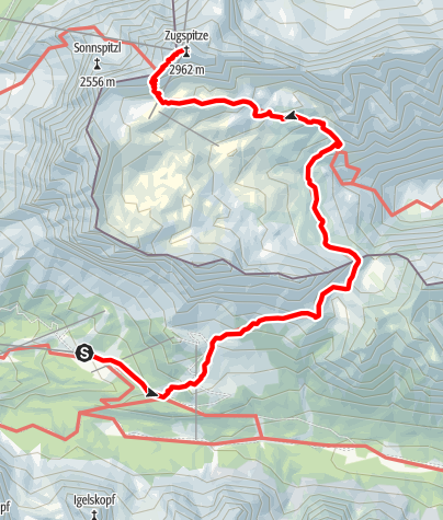 Karte / The Zugspitze - 2,962 m (9,718 ft) 2014