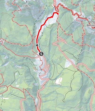 Karte / Parkplatz Wochenbrunneralm zur Gaudeamushütte