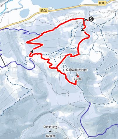 Karte / Dein Freiraum.Mein Lebensraum - Auf's Gschwender Horn (1.450m)