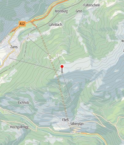 Karte / Venet Gipfelhütte