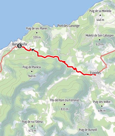Karte / 26 Banyalbufar to Esporles